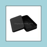 Bins Housekee Organisation Home GardenRec Box Schwarz Metall Container Zinn Süßigkeiten Schmuck Spielkarte Aufbewahrungsboxen Geschenk Verpackung Zze5195 DR