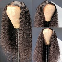 HD Transparent Curly 13x4 Lace Front Human Hair Wig Deep Wave PrePlucked 4x4 Closure Wigs For Black Women Water Wave Remy