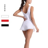 Anti light tennis women's sports yoga clothes Lulu same elastic running fitness skirt