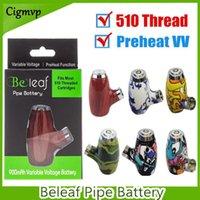 100% originale Belef Smart Vape Pen Cartridge Batteria regolabile 900mAh Preriscaldamento VV VV Voltabile VOLTAGGIO 510 Filo E Tubi Fumo VAPOR MOD