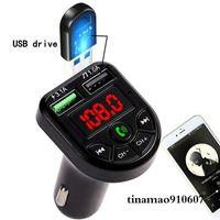 Auto Fast Charger Adapter Mehrere Ports Bluetooth FM Sender Drahtlose Freisprecheinrichtung Audio MP3 Music Player Support TF-Karte U-Diskette