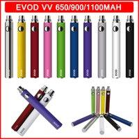 Evod Préchauffez VV Vaporisateur Vape Batterie 650 900 1100MAH Voltage variable Réglable Tension de cigarette 510 Filetage électronique Cigarettes électroniques Vapes Pen e-cig EGO-T MT3 CE5 CE5