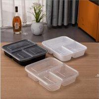 Luthware de Plástico Reusável Bento Box De Armazenamento De Alimentos De Alimentos Caixas De Alimentos De Alimentos 3 Compartimento Containers Home Lunchbox Seaway FWF9430