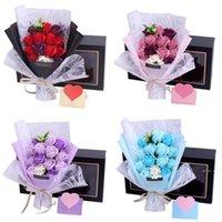 Rose Seife Geschenkbox Valentinstag Mutter Tag Kreative Geschenk Seife Rose Bündel Geschenk Box Geburtstag Künstliche Blumen Bouquet FWA3883