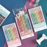 Gel Pens 9-color Set Morandi Colorful Hand Account Pen Kawaii Student Notebook Painting Writing Supplies Learning Stationery