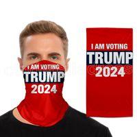 US Presidential election Trump 2024 Magic Sciarf Mask Maschere da ciclismo Maschere Sciarpa Moto Scarpa Magic Sciarpe del foulard Collo Astuccio Outdoor Face Party Masks