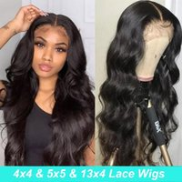 Lace Wigs Body Wave Front Closure Wig 30inch 13x6 Human Hair Pre Plucked Transparent For Black Women