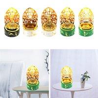 Fragrance Lamps Incense Burners Golden Plating Metal Cones Holder Aroma Burning Bowl Stove With Dome Cover Censer Desk Ornament