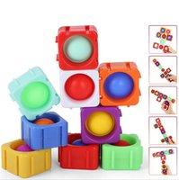 Bubble Fidget giocattolo Push bolle puzzle cubo popping toy toy toy hand finger split building block giocattoli per bambini adulti regali di Natale