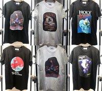 2021 Yeni Yüksek Kaliteli T-shirt Erkekler Kadınlar Pusu Unicorn Grafik Tee Siyah Beyaz Pamuk Kısa Kollu PCFX Tops