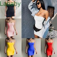 Summer Solid Color Women's Sleeveless Dress Designer 2021 New Slim Sexy Suspender Skirt Ladies Fashion Clothing