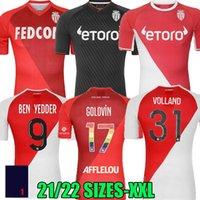 2021 2022 As Monaco Soccer Jerseys Especial Volland Jovetic Maillots de Pie Colector 21 22 B.Badiashile Ben Yedder Gelson Fabreags Golovin Hombres Camisa de fútbol para niños