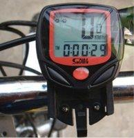 도매 200pcs 로트 방수 디지털 LCD 자전거 속도 미터 자전거 주행 경량 속도계 컴퓨터 디스플레이 워치