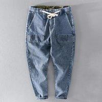 Il marchio di Suehaiwe Italy Trendy Denim Pantaloni da uomo Jeans Casual Pantaloni da primavera per uomo Pantaloni Spodnie Spodnie Solid Stretch Stretch