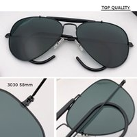 Классический стеклянный объектив UV400 пилот Gafas 58 мм металлический каркас кадр авиационные солнцезащитные очки дизайнер женские мужчины женские фирменные бренды óculos старинные очки