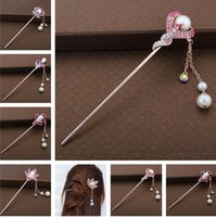 Epecket DHL Fábrica Acessórios de Cabelo Direto, Clássico Coreano Rose Gold Pearl Hairpin Dafz005 Hairpins de Jóias de Cabelo