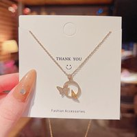 Pendant Necklaces Necklace Goth For Women Initial Choker Letter CN(Origin) Butterfly