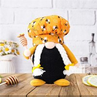 Ape Chef Dwarf Doll 14 * 8 * 19cm Honey Bee Man Donna Scandinavia Dwarf Dwarf Bambola Giocattoli per bambini Casale Agriturismo Decorazioni da cucina EWB5186
