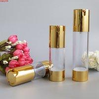 15ml 50 ml de pompe sans air transparent de la bouteille de cosmétique de la bouteille de beauté mini-lotion bouteilles d'articles de toilette asphatique