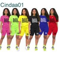 الصيف مصمم جديد نساء قطعة قصيرة مجموعات الملابس عارضة رياضية قصيرة الأكمام تي شيرت السائق السراويل الدعاوى السراويل زائد الحجم 2021