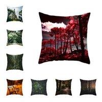 Cushion Decorative Pillow Forest Plants Pillowcase Decorative Sofa Cushion Case Bed Cover Home Decor Car 45*45cm