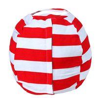어린이의 다채로운 스트라이프 부드러운 면화 큰 봉제 장난감 정렬 휴대용 저장 가방 강한 다목적 포장 홈