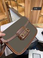 럭셔리 어깨 가방은 작은 빵을 덮고있는 작은 빵 하나의 색상 일치 체인 오르간 말 마른 가방