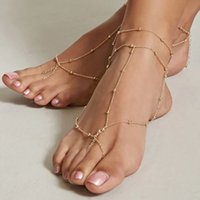 Gold Color Anklets For Women Chain Ankle Bracelet Sandals Brides Shoes Barefoot Beach Jewelry Gift Foot Accessories