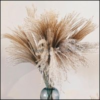 Wreaths Festive Party Supplies & Gardennatural Dried Flowers Wedding Decorative Real Pampas Reed Whisk Grass Artificial Flower Bunch Home Pl