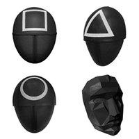 Halloween Masquerade Fato De Festa Pessoas TV Squid Game Masked Homem Masked Round Squire Triângulo Máscara Acessórios Delicate 4 estilos para escolher