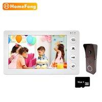 Homefong الاتصال الداخلي للمنزل فيديو الدخول الهاتف جرس الباب مع كاميرا 1200TVL لوحة الاتصال مع تسجيل 120 درجة عرض
