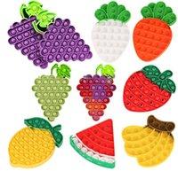 Gigante fruta empuje descompresión anti estrés juguetes celular telefono correas silicon dedo fidget burbujas sensoriales hoyuelos jumbo interactivo fresa limón juguete