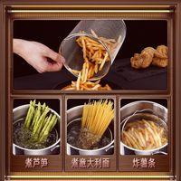 Pans 304 Stainless Steel Asparagus Pot With Deep-fried Basket High Soup Deep Fryer