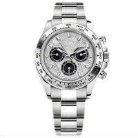 Sichu1 -2021 мужские часы черный керамический безель мода белый диск браслет складной зажима работа полная функция часы дня и ночной свет