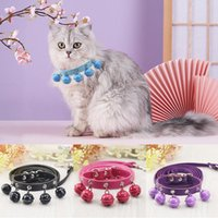 Dog Collars & Leashes Personality Cat Bell Collar Adjustable Pu Material Pet Supplies Accessory Small Chihuahua Correas Para Perro