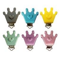 10 piezas de chupete de bebé accesorios de cadena de silicona Hardware de corona de hardbill clip para bebés alimentación materna e infantil