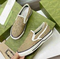 Slip On Tênis 1977 Imprimir Sneakers Mens Slip-on Canvas Sapatos Clássico Jacquard Denim Vintage Corredores Treinadores Womens Designer Itália Luxurys Casual Sapato