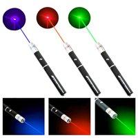 Günstige Laser-Stift lila rot grün 5mw 405nm Laser-Zeiger-Stift-Strahl für SOS-Montage Nacht Jagd Teaching Weihnachtsgeschenk OPP-Paket