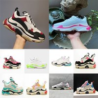 paris new trainer balencaiga triple s casual shoes women luxery Designer Fashion Dad Platform Sneakers white red pink 17FW 36-40