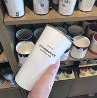 أحدث 16 أوقية ستاربكس الفولاذ المقاوم للصدأ فنجان القهوة مع غطاء، ستاربكس أنماط مختلفة من قارورة فراغ، شحن مجاني 116 S2
