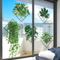 [Shijuekongjian] Planta verde Etiquetas de pared Vinilo DIY Deja Calcomanías murales para la sala de estar Dormitorio para niños Cocina Decoración del hogar