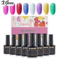 Nail Gel Xgens Set For Manicure Hybrid Varnishes Neon Pure Color Polish Art Design Kit Long Lasting Gift