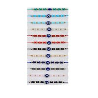 Charm Bracelets 2021 Trendy Evil Eye For Woman Blue Eyes Multicolor Rope Beaded Adjustable Good Luck String Link Girls
