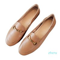 Designer Women Horsebit Muller loafers Genuine Leather Flat heel round toe Slip-On Shallow mouth soft sole Luxury Customized Leather Shoes