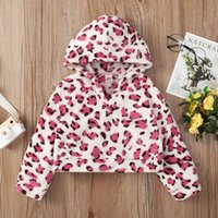 Mädchen lange Ärmel Leopard Hoodies Herbst 2021 Kinder Bouitique Kleidung 1-5t Kinder Coton Casual Sweatshirt T-Stück Tops mit Kapuze