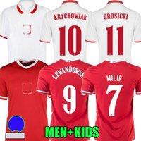 2020 2021 Milik Lewandowski Polonia Futbol Formalar Milli Takımı Camiseta Ev Beyaz Uzakta Kırmızı 21 22 Krychowiak Zielinski Klich Futbol Gömlek Top Tayland