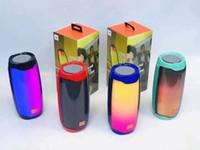 2021 Popolare colonna pulsante Pulsante altoparlante colorato Led Night Light Altavoz Bicicleta Bicycle Portatile Colunas Parlante Bluetooth Lautsprecher