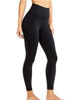 Leggings delle donne Colori solidi Traspitali Tracksuit in vita alta elastico super elastico Senza soluzione di continuità Pantalone da yoga perfetto per l'esercizio