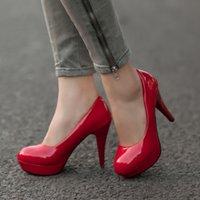 Frauen Pumps Mode Klassische Lackleder High Heels Schuhe Nackte Scharfe Kopf Paltform Hochzeit Frauen Kleid Schuhe Plus Sizedress Schuhe