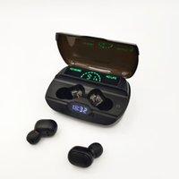 G6 Bluetooth 5.0 LEDデジタルディスプレイ充電コンパートメントワイヤレスブルートゥースイヤホンが付いているLEDデジタル表示ブルートゥースヘッドセット